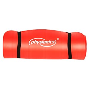 Physionics Pilates Yoga und Gymnastikmatte 180 x 60 x 1.5 cm Red, FNMT02-1.5