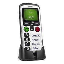 Doro Secure 580 - Teléfono móvil (128 x 160 Pixeles, Single SIM, MicroSIM, 3G, GSM, UMTS, 2.1, 3,5 mm) Color blanco