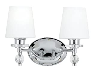 Quoizel HS8602C Hollister 2-Light Bath Fixture, Polished Chrome by Quoizel