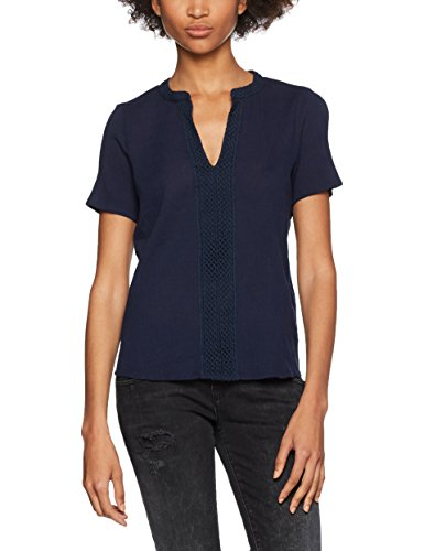Vero Moda Vmmary S/S Midi Top Dnm a, Camiseta sin Mangas para Mujer Azul (Navy Blazer)