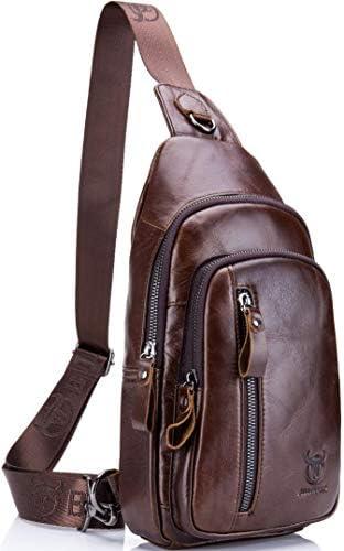 Joewilling Sling Bag Genuine Leather Chest Shoulder Backpack Outdoor Cross Body Bag Sports Bag J0045