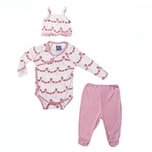 Kickee Pants Print Ruffle Kimono-Newborn Gift Set- Natural Wallpaper, 3-6 Months