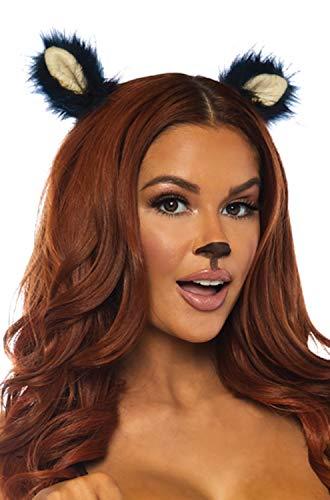 Leg Avenue Women's 2 PC Furry Animal Ear Clips, Grey One Size -