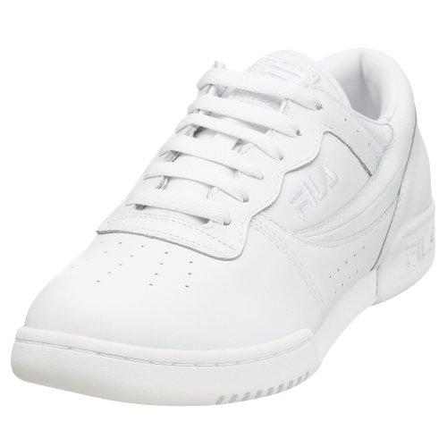 Fila Heren Originele Fitness Lea Klassieke Sneaker Triple Wit