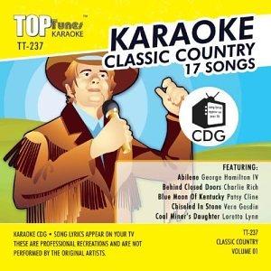 Tunes Karaoke Top - Top Tunes Karaoke TT-237 Country; Vern Gosdin, Patsy Cline and Loretta Lynn