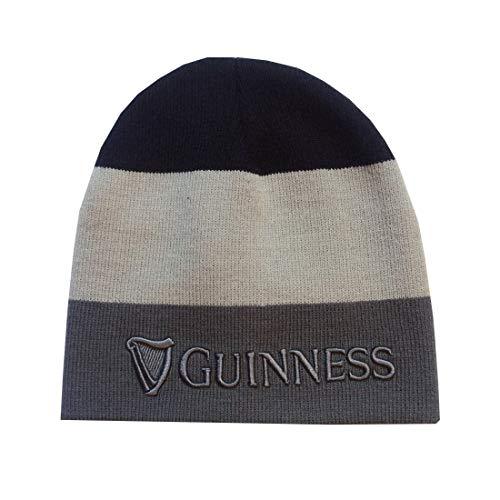 Guinness Unisex G6230 Beanie-Mütze, schwarz, grau, One Size