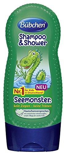 Bübchen Kids Shampoo und Shower Seemonster, 4er Pack (4 x 230 ml)