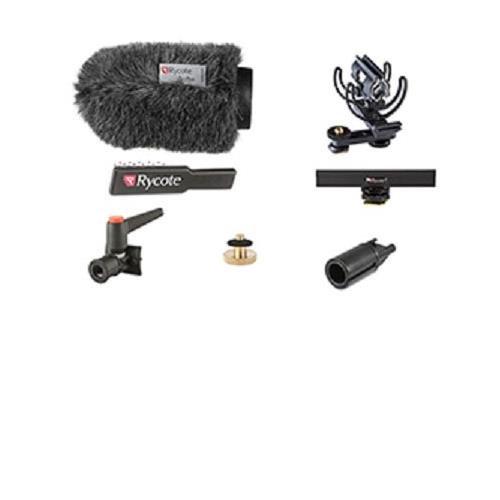 Rycote 12cm/4.72'' Standard Hole Classic-Softie 19/22 Camera Kit, Includes 10cm Hot Shoe Extension, 3/8'' Boom Swivel, Hot Shoe 3/8''Adaptor, Brush