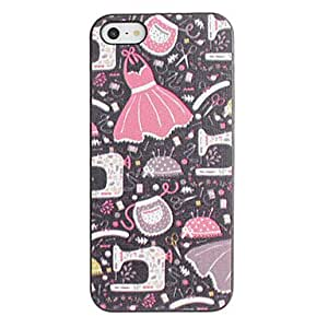 Colorful Aprons Pattern PC Hard Case with Black Frame for iPhone 5/5S