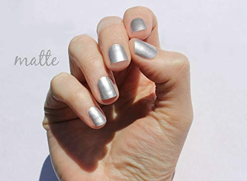 Solid Matte Silver Nail Wraps by SoGloss