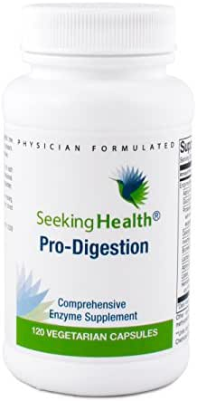 Pro-Digestion   Best Digestive Support Supplement   Treats Heartburn, Gas, Bloating and Belching   120 Easy-To-Swallow Vegetarian Capsules   Free Of Common Allergens