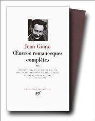La Pléiade : Oeuvres romanesques complètes 03 par Jean Giono