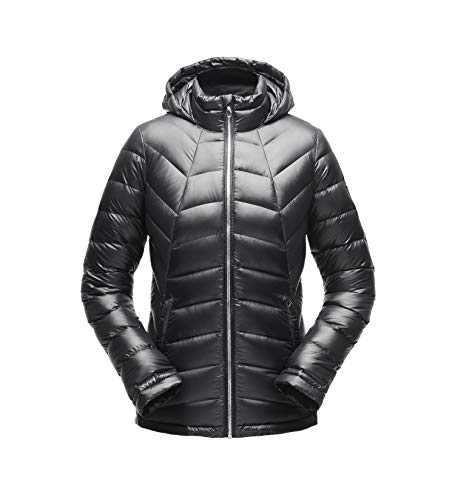 Spyder Women's Syrround Hoody Down Jacket, Black/Black, Small