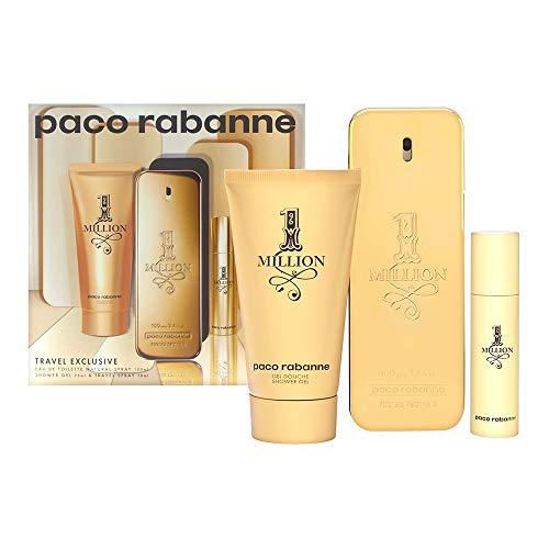 1 Million by Paco Rabanne Eau de Toilette Spray 100ml, Shower Gel 75ml & Eau de Toilette Spray 10ml (1 Million Paco Rabanne 100ml Eau De Toilette)