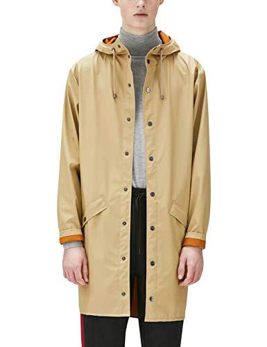 Hombre Rains Jacket Abrigo beige Long para Impermeable wOpXva