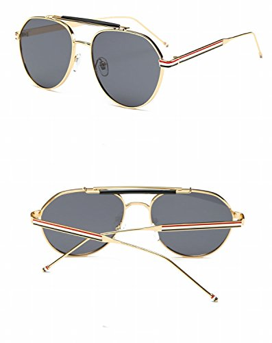 Retro Eyewear Lunette À L'Amande Lunettes De Soleil Colorées Cadre Argenté Glace Bleu bnr5xuV