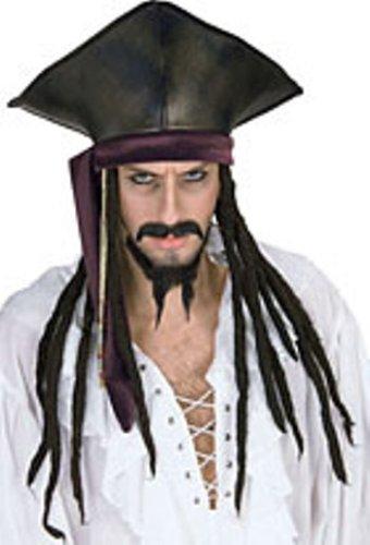 45eeb12e032 Amazon.com  Rubies Pirate Hat w  Dread Locks  Toys   Games