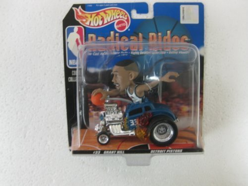 (NBA Radical Rides Court Collection #33 Grant Hill Detroit Pistons In His Souped Up 143 Scale Diecast Hot Rod From Hot Wheels)