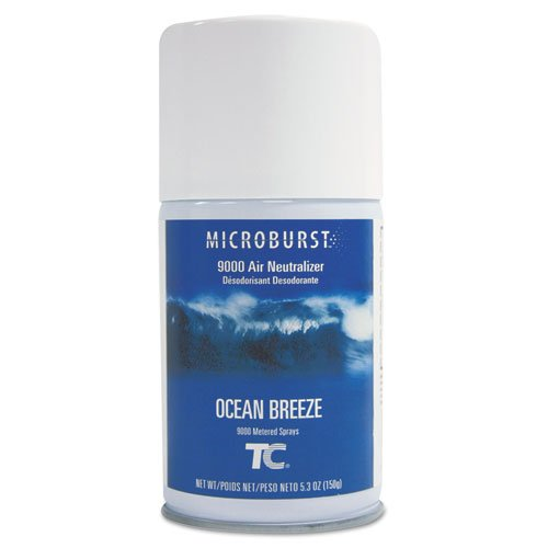 Aerosol Neutralizer Refill Air - Rubbermaid 4012471 Microburst 9000 Air Freshener Refill Ocean Breeze 5.3oz Aerosol 4/Carton