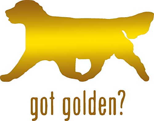 (Animal GOT Golden Retriever Dog 1 (Metallic Gold) (Set of 2) Premium Waterproof Vinyl Decal Stickers for Laptop Phone Accessory Helmet Car Window Bumper Mug Tuber Cup Door Wall Decoration)