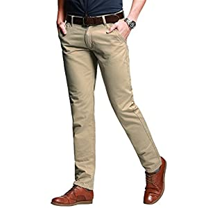 Match Men's Slim Tapered Stretchy Casual Pant #8103