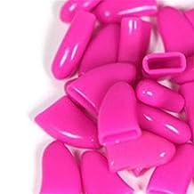 20pcs Soft Cat Pet Nail Caps Claw Control Protector Cap + Adhesive Glue Hot Pink Size XS