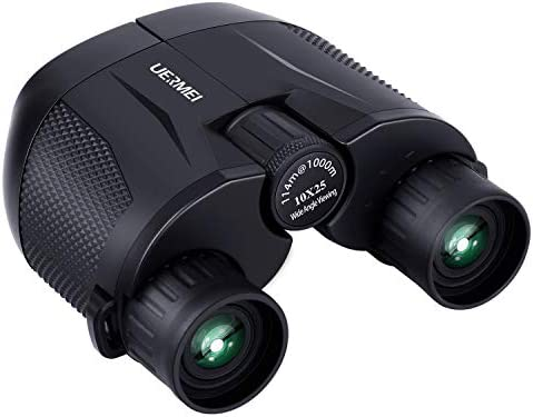Binoculars for Kids and Adults,UERMEI 10×25 Small Binoculars for Outdoor Sports and Concerts Low Light Night Vision and Lightweight