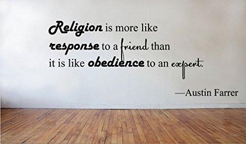 (Blinggo Religion is more like Austin Farrer removable Vinyl Wall Decal Home Dicor)