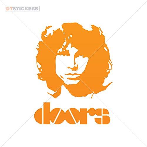 Decoration Vinyl Sticker Jim Morrison Doors Decoration Motorbike (10 X 7,72 In. ) Orange