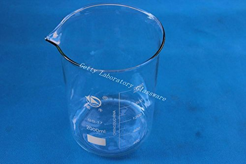 2000 mL (2 Litre) Lab Glass Beaker, with wide mouth, pyrex glass material Beijing Getty Laboratory Glassware Co.
