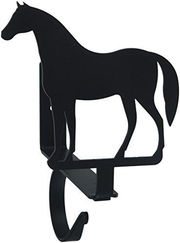 Wrought Iron Curtain Shelf Bracket (7.5 Inch Horse Curtain Shelf Brackets)