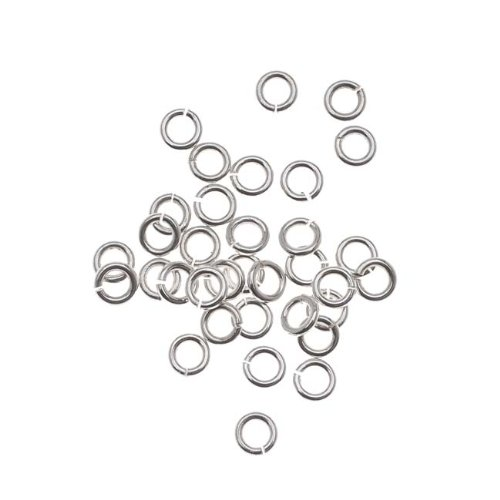 Beadaholique 20-Piece Sterling Open Jump Rings, 3mm, 22-Gauge, Silver