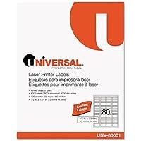 UNV80001 - Universal Laser Printer Permanent Labels
