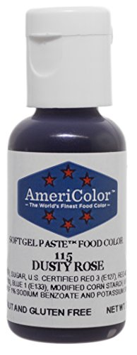 AmeriColor Dusty Rose Soft Gel Paste Food Color, .75 oz