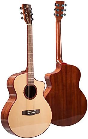 クラシックギター アコースティックギター41インチスプルースフォークギターギター大人の性能グレードギターインストゥルメント 女の子と男の子のギター (Color : Photo color, Size : 41 inch)