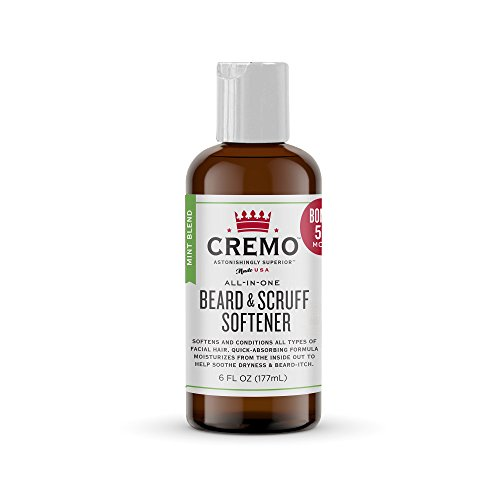 Cremo Beard and Scruff Softener, Mint Blend, 6 Ounce - Conditions Coarse Facial Hair of All Lengths, Delivering Touchably Soft Results in Just 30 Seconds
