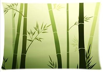Rechteck Kissenbezuge Kissenbezug Bambus Muster Baumwolle Grun