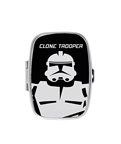 Clone Trooper Personalized Custom HOT Sale stainless steel Pill Case Box Medicine Organizer Gift Box -