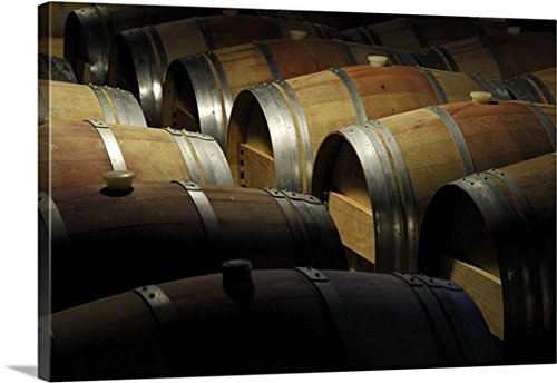 Colin Dutton Premium Thick-Wrap Canvas Wall Art Print entitled California, Napa Valley, Barrel room at the Hess Collection Winery Hess Collection Napa Valley