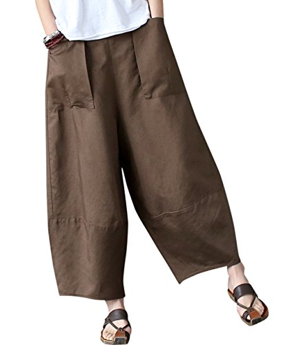 Aeneontrue Women's Patchwork Wide Leg Pants Trousers for sale  Delivered anywhere in USA