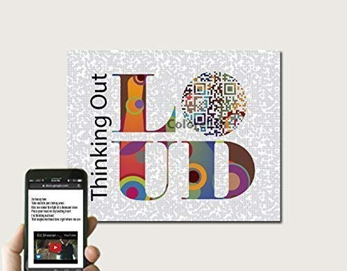 First Wedding Anniversary Gift | Amazon Com Thinking Out Loud Inspired Qr Code Art Or Personalized
