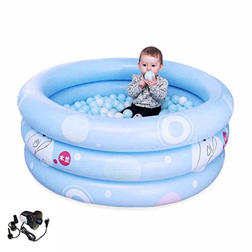 LQQGXL,Bath Children's inflatable pool baby bathtub blue Inflatable bathtub ( Color : Electric pump , Size : 125cm ) by LQQGXL