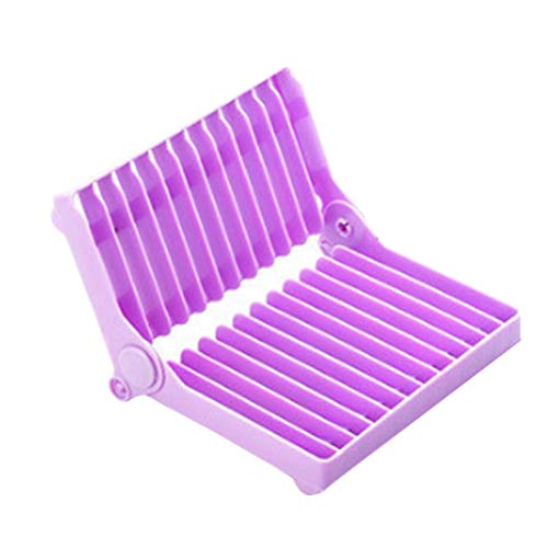BESTONZON Folding Dish Drying Rack Kitchen Plate Cup Bowl Gl