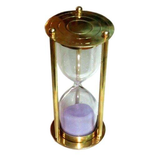 Zap Impex Beautiful 3 minutes sand timer Hourglass Brass handicraft