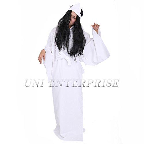 PATYMO Japanese Ghost Costume (YUREI) - Japan Scary Movie Cosplay - S/M -