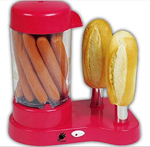 J-jati Hot Dog Steamer Hot Dog Bun Warmer, Steams and warms Hot Dogs and Buns at the same time,...