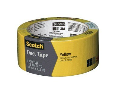 Scotch Durable Duct Tape, Yellow, 20-Yard ()
