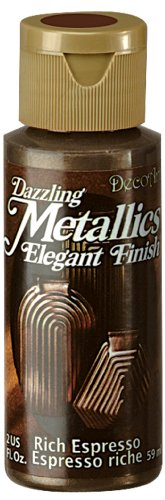DecoArt Dazzling Metallics 2 Ounce Espresso