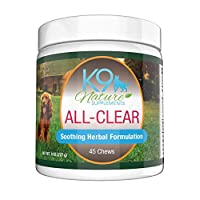 Dog Allergy Supplement All-Clear Herbal Anti Itch Treats Provide Natural Relief...
