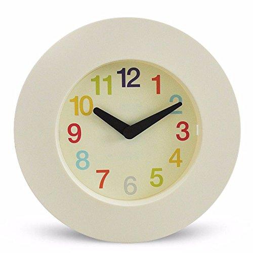 オフィスのための寝室のためのリビングルームのための静かな壁時計、黄色 B07DVYZN5L 黄 黄